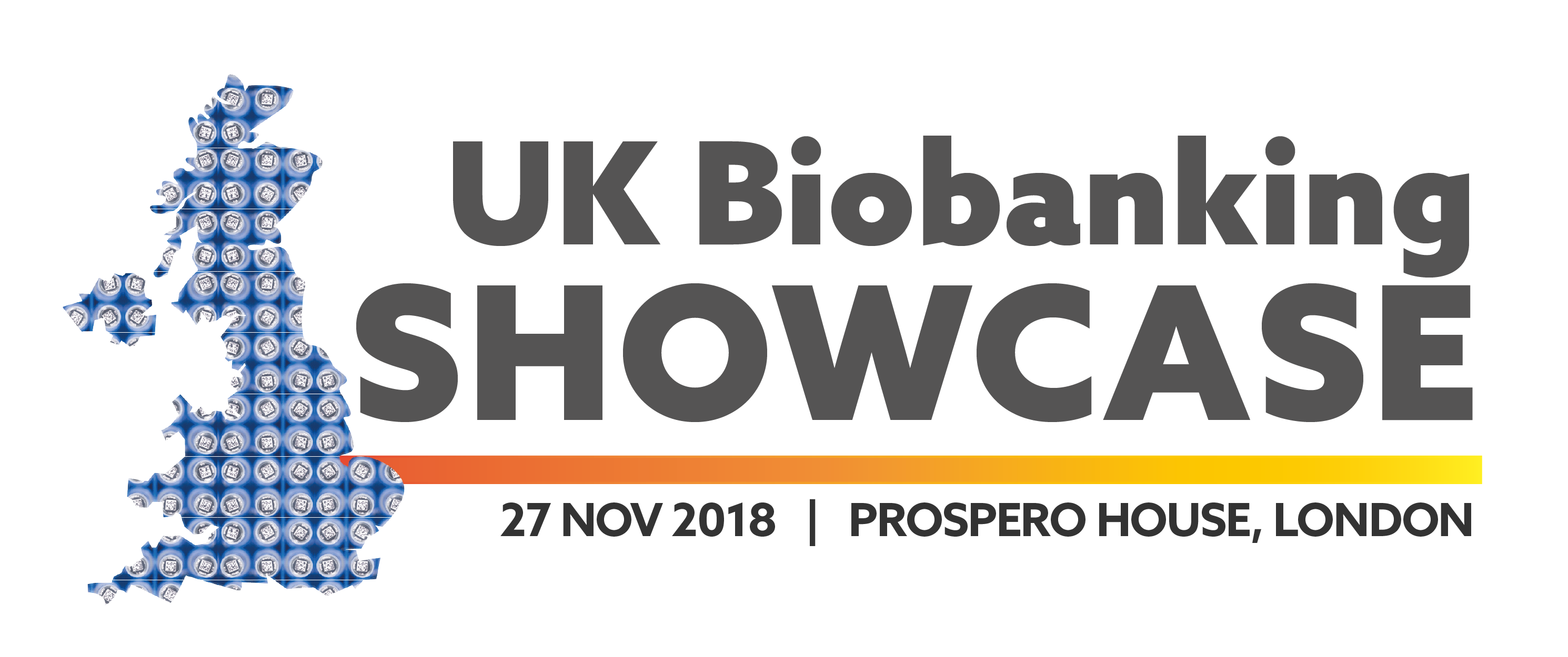 Text of Biobanking Showcase including date and venue, with map of the UK
