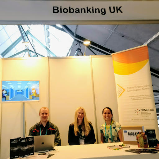 Phil, Jessica and Catherine at the Biobanking UK stall